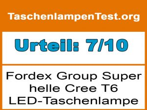Fordex Group Super helle Cree T6-Testergebnis