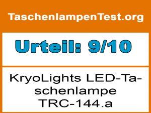 KryoLights LED-Taschenlampe TRC-144.a-Testergebnis