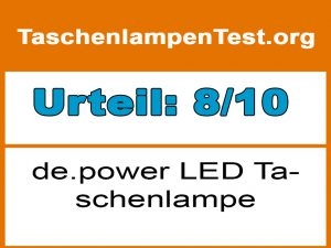 de.power LED Taschenlampe-Testfazit