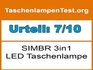 SIMBR-3in1-LED-Taschenlampe-Testurteil