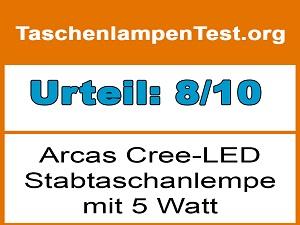 arcas-taschenlampe-5-watt-200-lumen-testurteil